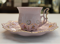 Coffee cup with plate, decor 0247