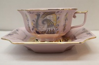 Tea cup and saucer , decor 0562