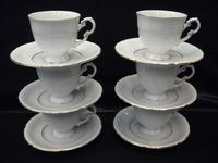 Cup and saucer 015, decor 1139, 6 pcs